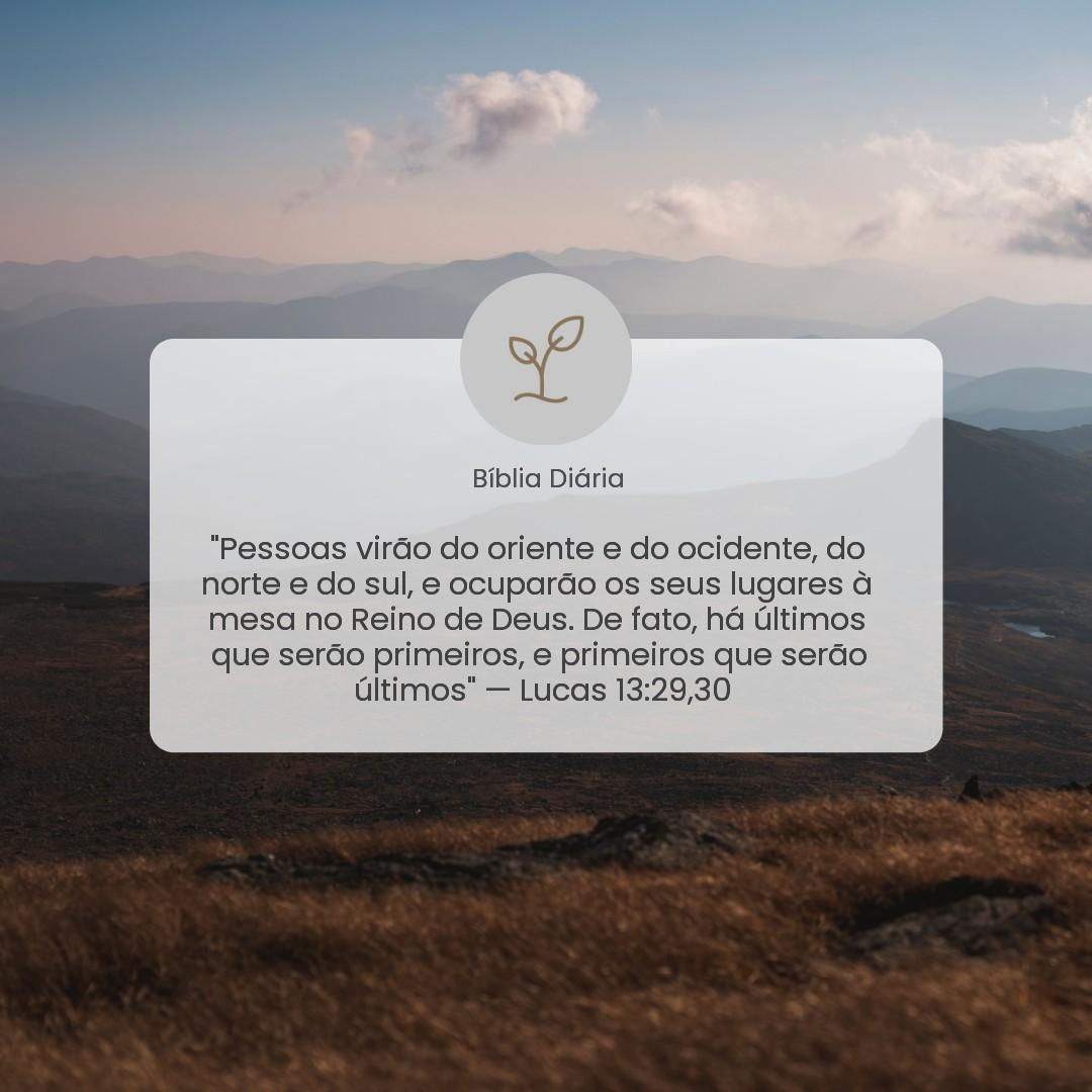 Lucas 13:29,30